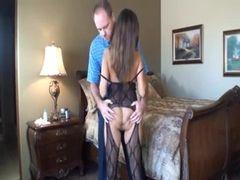 Sexo amador com a esposa peituda e bucetudaa