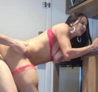 Bianca fodendo na cozinha com o patrãoa